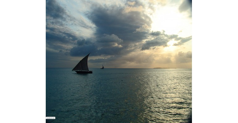 Zanzibar Dhow at Sunset
